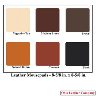 Leather Mousepad - Assorted Colors - OhioLeatherCompany.com