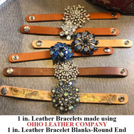 1 in.-Round End Leather Bracelet Blanks - OhioLeatherCompany.com - Choose from 8 Assorted lengths -03