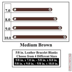 5/8 in. Leather Bracelet Blanks - Medium Brown - OhioLeatherCompany.com