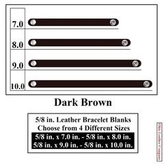 5/8 in. Leather Bracelet Blanks - Dark Brown - OhioLeatherCompany.com