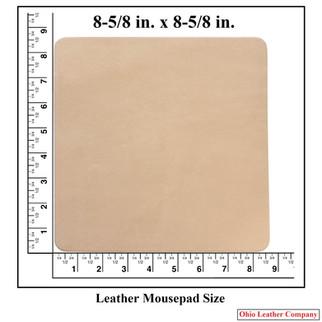 Leather Mousepad Size - OhioLeatherCompany.com