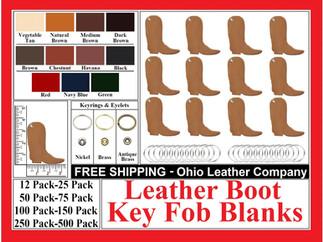 Leather Boot Key Fob Blank - Ohio Leather Company.com
