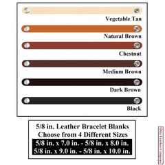5/8 in. Leather Bracelet Blanks - OhioLeatherCompany.com -2