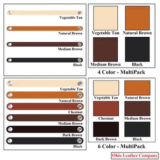 4 Color & 6 Color - Leather Bracelet Blanks - OhioLeatherCompany.com
