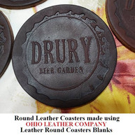 Leather Round Coaster Blanks - 3 Sizes to choose from 3-1/4 in. - 3-5/8 in. - 4-1/8 in. - OhioLeatherCompany.com -03