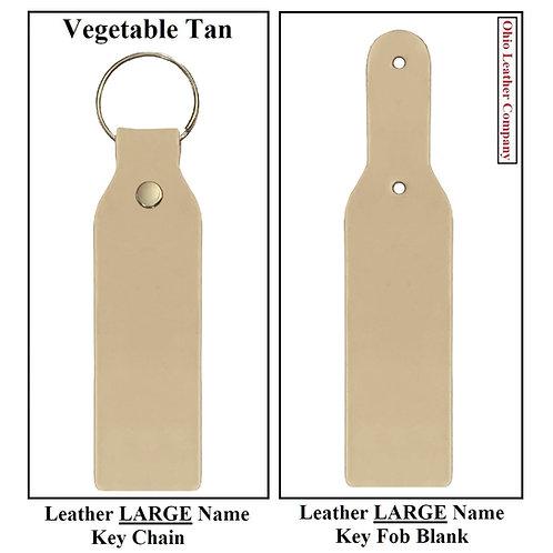 Leather LARGE Name Key Fob Kit