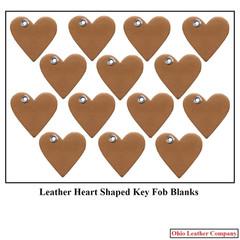 Leather Heart Key Fob Blanks - OhioLeatherCompany.com