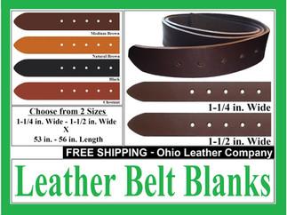 Leather Belt Blanks for Sale at Etsy & O