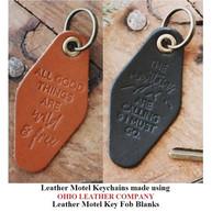 Leather Motel Key Fob Blank - OhioLeatherCompany.com