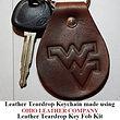 Leather Teardrop Keychain - Ohio Leather Company