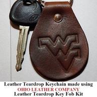 Leather Teardrop Keychain - OhioLeatherCompany.com -08