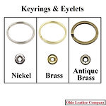Accessory Selection - Keyrings & Eyelets - 3 Finishes Available - Nickel - Brass - Antique Brass - Ohio Leather Company
