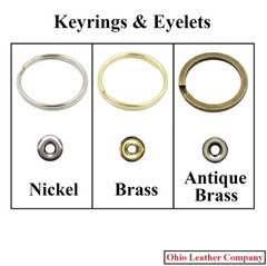 Accessory Selection - Keyrings & Eyelets - OhioLeatherCompany.com