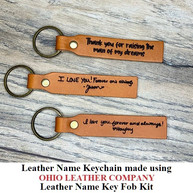 Leather Name Keychain - OhioLeatherCompany.com -05