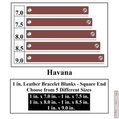 1 in. Leather Bracelet Blanks - Square End - Havana - OhioLeatherCompany.com
