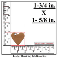 Leather Heart Keychain - Heart Shaped Keychain - OhioLeatherCompany.com