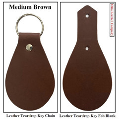 Leather Teardrop Keychain & Key Fob Blank - OhioLeatherCompany.com -2