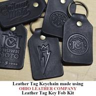 Leather Tag Keychain - OhioLeatherCompany.com -02