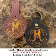 Leather Round Keychain - OhioLeatherCompany.com -03