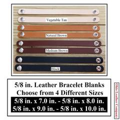 5/8 in. Leather Bracelet Blanks - OhioLeatherCompany.com -4