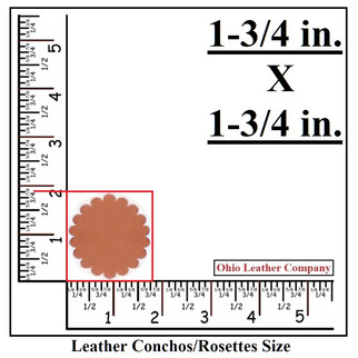 Leather Concho Blank Size - Leather Rosette Blank Size - OhioLeatherCompany.com