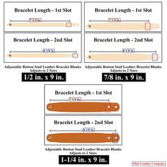 Adjustable Buttton Stud Leather Bracelet