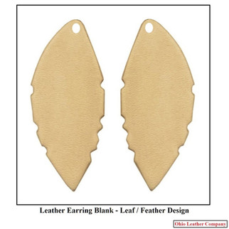 Leather Leaf Earring Blanks - Leather Feather Earring Blanks - OhioLeatherCompany.com