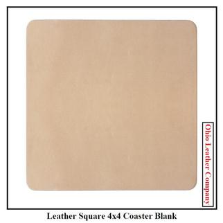 Leather Square 4x4 Coaster Blank  - OhioLeatherCompany.com -1