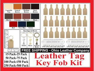 Leather Tag Key Fob Kit - Ohio Leather Company.com