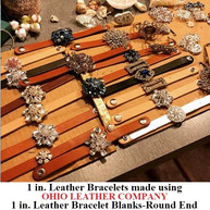 1 in.-Round End Leather Bracelet Blanks - OhioLeatherCompany.com - Choose from 8 Assorted lengths -02