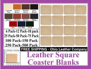 Leather Coaster - Leather Square Coaster