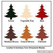 Leather Christmas Tree Ornament Blanks -