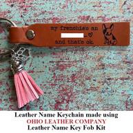 Leather Name Keychain - OhioLeatherCompany.com -10