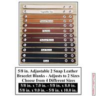 5-8 in. Adjustable 2 Snap Leather Bracelet Blanks - OhioLeatherCompany.com