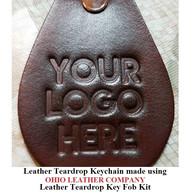 Leather Teardrop Keychain - OhioLeatherCompany.com -06