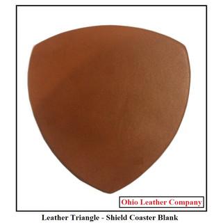 Leather Triangle Coaster Blank - OhioLeatherCompany.com -1