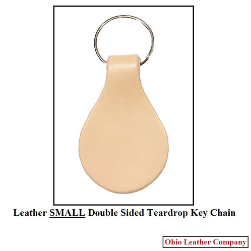 Leather Double Sided SMALL Teardrop Key Fob Kit