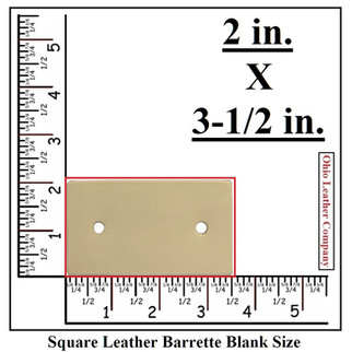 Square Leather Barrette Blank Size - OhioLeatherCompany.com