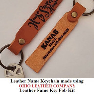 Leather Name Keychain - OhioLeatherCompany.com -03