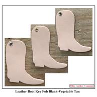 Leather Boot Key Fob Blanks - Boot Keychain - OhioLeatherCompany.com