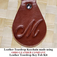 Leather Teardrop Keychain - OhioLeatherCompany.com -13