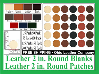 Leather 2 in. Round Blanks , Leather 2 i