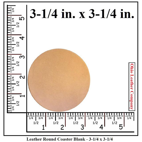 3-1/4 in. Round Leather Coaster Blank
