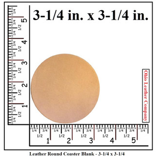 Leather Round Coaster Blank Size - 3-1/4 in. - OhioLeatherCompany.com