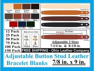 Bracelet Blanks - Adjustable Button Stud