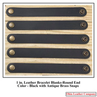 1 in.-Round End Leather Bracelet Blanks - OhioLeatherCompany.com - Choose from 8 Assorted lengths -05