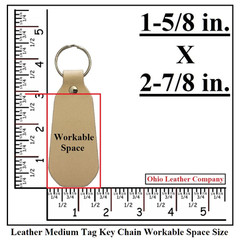 Leather Medium Tag Keychain Workable Space Size - OhioLeatherCompany.com