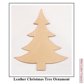 Leather Christmas Tree Ornament Blank - OhioLeatherCompany.com