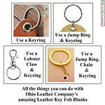 All the things you can do with the Leather Key Fob Blanks from Ohio Leather Company