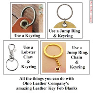 Leather Key Fob Blanks - All the things you can do with the Leather KEy Fob Blanks from Ohio Leather Company